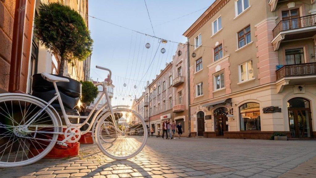 Тернопіль, центр, велосипед